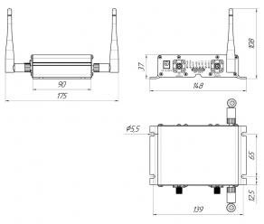 Роутер Kroks Rt-Cse mQ-E со встроенным SMD модемом Quectel EC25-E
