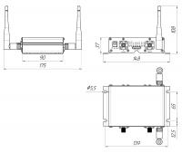Схема Роутер Kroks Rt-Cse eQ-ECсо встроенным модемом