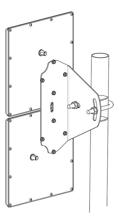Мачта телескопическая 18м стальная окрашенная