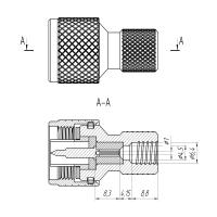 Разъем N(male) - накручивающийся на кабель RG-6U, SAT-703