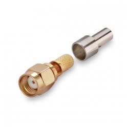Разъем реверсивный обжимной S-A111F RP-SМА(male) RG-58, RG142, RG400, LMR195