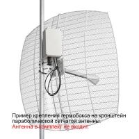 Кронштейн KG-SMAx2 с гермобоксом для сетчатой антенны (с гермовводом RJ45)