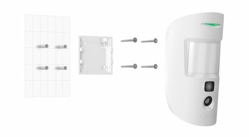 Датчик движения Ajax MotionCam с фотокамерой (White)