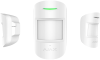 Датчик движения и разбития стекол Ajax CombiProtect (White)