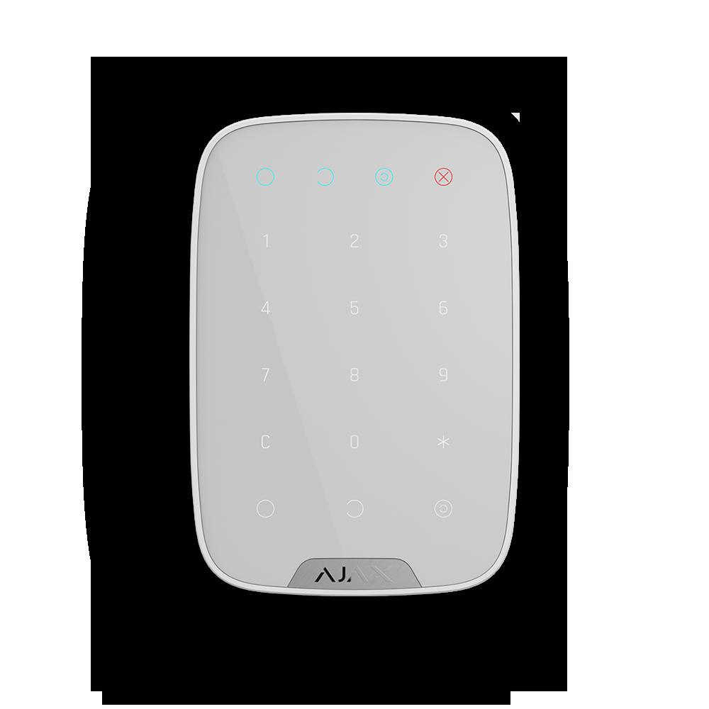 Беспроводная сенсорная клавиатура Ajax KeyPad (White)
